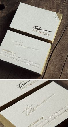 Cartes de visite 4 couleurs en recto verso / letterpress business cards 4 colors