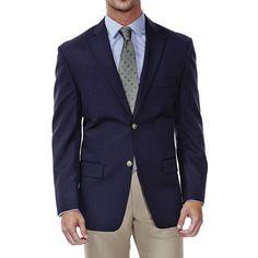Men's Haggar Classic-Fit Solid Sport Coat, Size: 46 - regular, Blue (Navy)