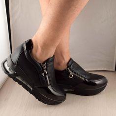 Poze Adidasi negri Yana 7 cm Boat Shoes, Adidas, Sport, Fashion, Moda, Deporte, Fashion Styles, Sports