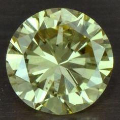 0.15 cts Natural Fancy Yellow Diamond Round Cut Belgium untreated loose gem