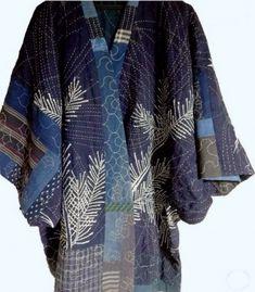 Bags & Handbag Trends : idea jacket boro sashiko x Sashiko Embroidery, Japanese Embroidery, Embroidery Thread, Embroidery Supplies, Embroidery Patterns, Japanese Textiles, Japanese Fabric, Japanese Sewing, Boro Stitching