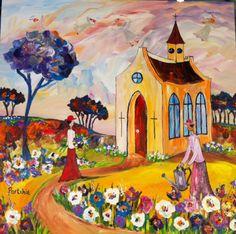 love dit hele sitkamer vol Fabric Painting, Artist Painting, South Africa Art, African Art Paintings, South African Artists, Chapelle, Blue Art, Art Pictures, Art Pics