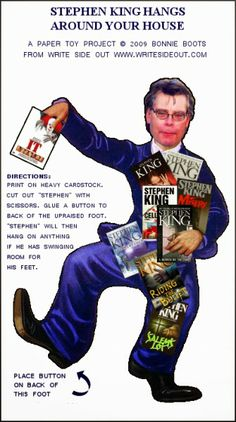 Talk Stephen King: PAPER TOY: STEPHEN KING HANGS AROUND YOUR HOUSE