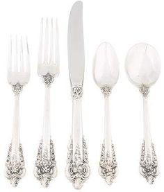 Wonderful Wallace Grand Grande Baroque Sterling Silver Citrus Orange Fruit Spoon