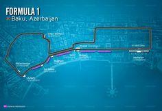 Baku GP Circuit Map - Baku City Circuit
