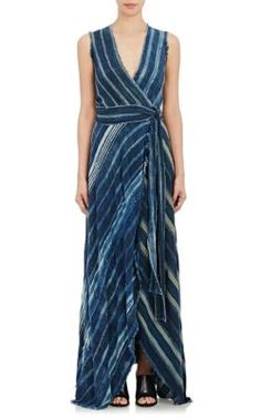 Greg Lauren Port Efeville Wrap Dress at Barneys New York