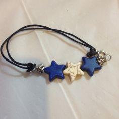 Bracelet Blue and white stars. Clasp on the side. Daffodil90 Jewelry Bracelets