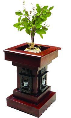 Thulasi Plant, Plant Decor, Silver Pooja Items, Mandir Design, Indian Garden, Pooja Room Door Design, Small House Interior Design, Small Balcony Decor, Puja Room