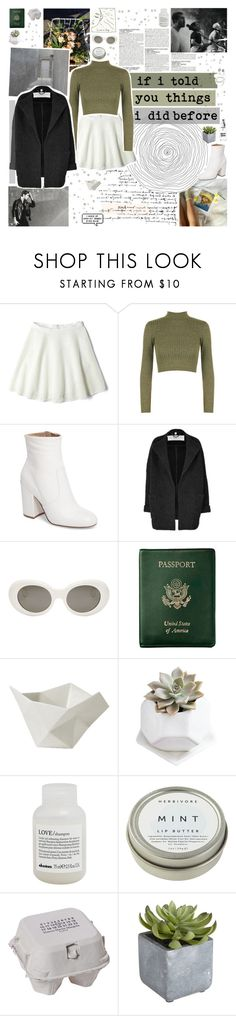 """""""would you go along with someone like me"""" by www-purrtydino-org ❤ liked on Polyvore featuring McGinn, DKNY, WearAll, Steve Madden, Burberry, Acne Studios, Royce Leather, Muuto, Davines and CB2"""