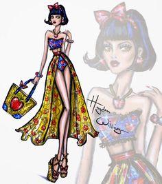 #Hayden Williams Fashion Illustrations: #Disney Divas 'Beach Beauties' by Hayden Williams: Snow White