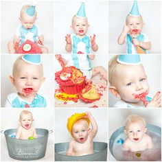 1st Birthday Cake Smash! Great Fun & Mess! #1stbirthday #cakesmash #birthdaycakesmash #babyphotography #essexphotography  http://www.facebook.com/bloomwood.photography