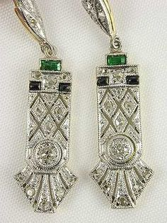 Art Deco Antique Style Earrings