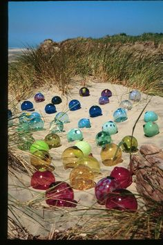 Glass floats I created for my Oregon Coast Festival Of Glass at Lincoln City.