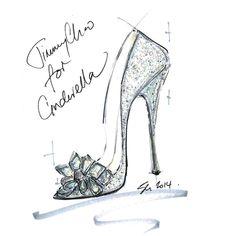 Crystal Covered Pointy Toe Pump 'Cinderella Slipper'   Cinderella   Exclusive   JIMMY CHOO