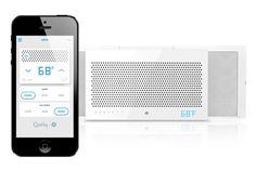 Quirky + GE Aros Smart Air Conditioner that you can control with your smart phone.