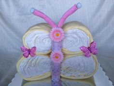 Butterfly Shaped Diaper Cake. $65.00, via Etsy.