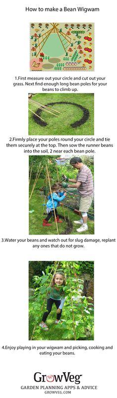 How to make a Bean Wigwam.
