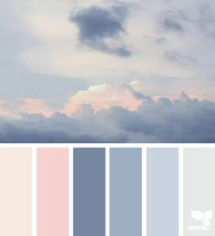 New Nature Inspired Color Palette Design Seeds Ideas Colour Pallette, Color Combos, Pink Color Schemes, Blue Colour Palette, Bedroom Colour Palette, Pink Palette, Color Trends, Design Trends, Design Ideas