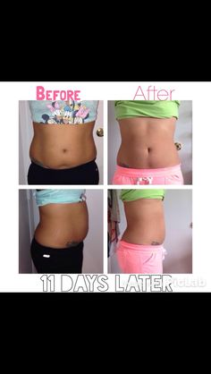 Before and After using It Works Wraps! Meganhite.myitworks.com