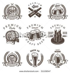 Stock Images similar to ID 306388844 - set of vintage beer festival...