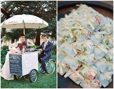 tendências no menu de casamento food bike e bem casados