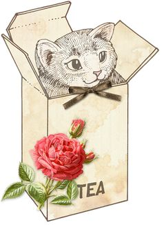 Free vintage tea party graphics