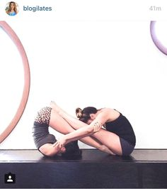 Cool infinity #yoga pose for two people. Great for best friends!