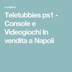 Teletubbies ps1 - Console e Videogiochi In vendita a Napoli