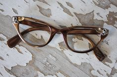 1950's Vintage Tura Aluminum Frame Hollywood Glamour Cat Eye Glasses by pursuingandie, $130.00