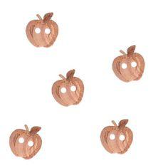 Bouton bois pomme