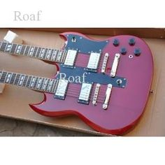 Wholesale custom shop Double Neck Electric  Guitar mahogany board Solid body free shipping