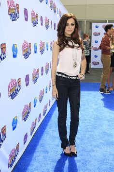 Cher Lloyd arrives at the Make Your Mark- Shake It Up Dance Off 2012
