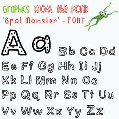 Classroom Freebies: Spot Monster Font