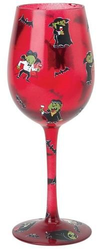 """Bite Me"" Wine Glass by Lolita (Hula Island)"