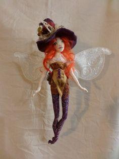 OOAK Art Doll Faerie Witch  Delphia Coral by paulasdollhouse