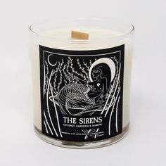 HausWitch exclusive collaboration with Soy Much Brighter and artist Marissa Malik. Soy candle with a wood wick and the amazing scent of coconut, gardenia and jasmine. 40 hour burn time when wood wick is trimmed to before each burning. Candle Branding, Candle Packaging, Candle Labels, Candle Jars, Pink Candles, Soy Candles, Scented Candles, Mirror Cleaner, Witch Decor