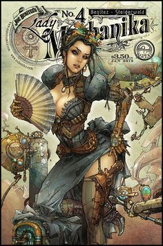 Lady Mechanika No. 4 Cover Art by Joe Benitez