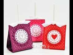 http://www.mychicnscratch.com  How to make a Valentine Lollipop Holder with Stampin Up Demonstrator Angie Kennedy Juda.  Visit my website for more papercrafting ideas http://www.mychicnscratch.com  Super cute idea