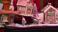 Choice of Illuminated Gingerbread Houses by Valerie with Sandra Bennett