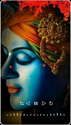 Krishna Gif, Krishna Songs, Jai Shree Krishna, Cute Krishna, Radha Krishna Love, Krishna Video, Krishna Quotes, Lord Shiva Statue, Lord Shiva Pics