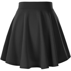 Women's Basic Solid Versatile Stretchy Flared Casual Mini Skater Skirt ($12) ❤ liked on Polyvore featuring skirts, mini skirts, bottoms, b o t t o m s, pants, saia, mini flare skirt, flared mini skirt, skater skirts and stretchy skirt