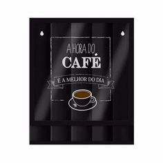 Quadro Porta Cápsulas Preto Dolce Gusto Hora Do Café - R$ 105,90