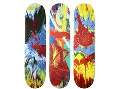 Damien Hirst for Supreme Skateboard decks