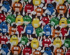 Curtain Valance Sewn From Red Blue Green Yellow Brown M's® Candy Fabric NEW on eBay!