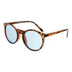 Amazon.com: Womens Mens Freyrs Eyewear Clark Blue Lens Round Sunglasses (Tortoise): Clothing