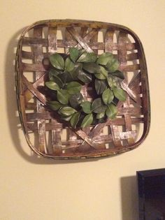 Tobacco basket and magnolia wreath.  Now that is Southern.