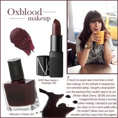 Oxblood nails and lips for fall