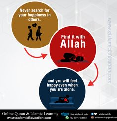 Never search for your happiness in others. Find it With Allah. www.eIslamicEducation.com Learn Online Quran & Islamic Short Courses Skype: live:eislamicedu Watsapp: +92-307-7458558 https://twitter.com/eIslamicEdu Email: eIslamicEdu@gmail.com https://facebook.com/eIslamicEdu