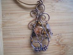 Heaven and Earth Tree of Life Pendant Maple Opal by OurFrontYard, $39.77