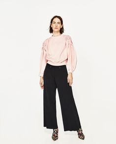 CONTRAST POPLIN TOP-View All-TOPS-WOMAN | ZARA United States